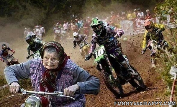 Grandmother Races Motocross