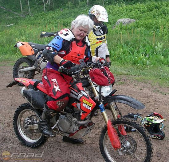 Old Female Motorcrosser